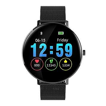 Qimaoo SmartWatch L6 Smart Watch Fitness Watch IP68 Rastreador de Ejercicios a Prueba de Agua Reloj de Pulsera con presión Arterial, oxígeno en ...