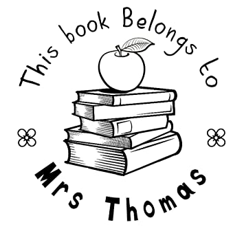 amazon com this book belongs to stamp apple book design custom