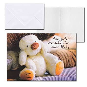 Cartolini Aufklappkarte Karte Sprüche Zitate Briefumschlag Geburt