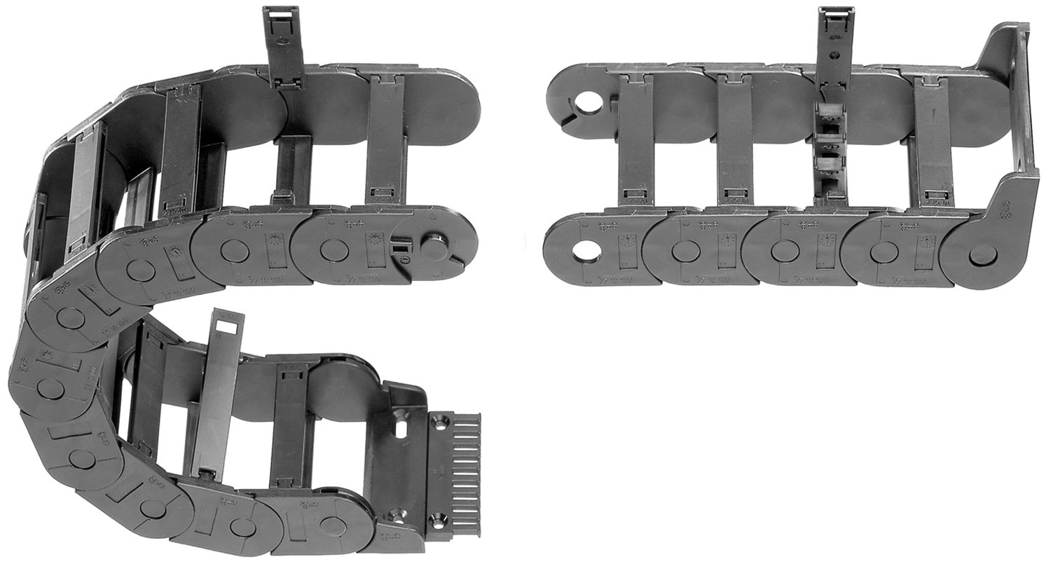1.26 Max Cable Diameter Hinge-Open Crossbar 3.94 Inner Width 3ft Chain Length Polymer 1.38 Inner Height Igus 27-10-100-0 Energy Chain Cable Carrier 3.94 Bend Radius