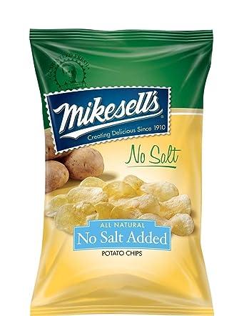 Mikesell 9,5 oz. No sal patata chips – 1 caja de 6 bolsas ...