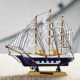 Jaycoknit Mediterranean Sea's Lucky Wooden Handcrafted Ship Home Decor Showpiece-22 cm