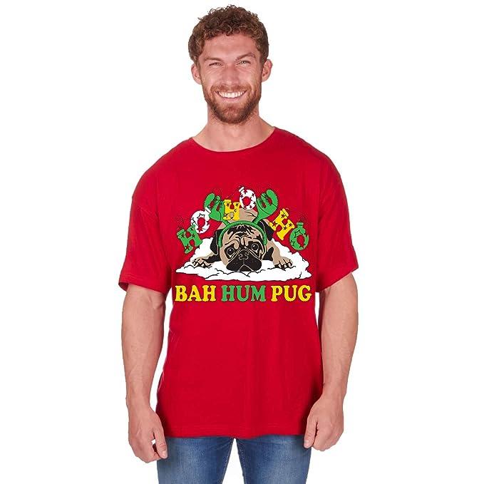 a20f20de7 Fruit of the Loom - Camiseta de algodón con Estampado navideño para Hombre   Amazon.es  Ropa y accesorios