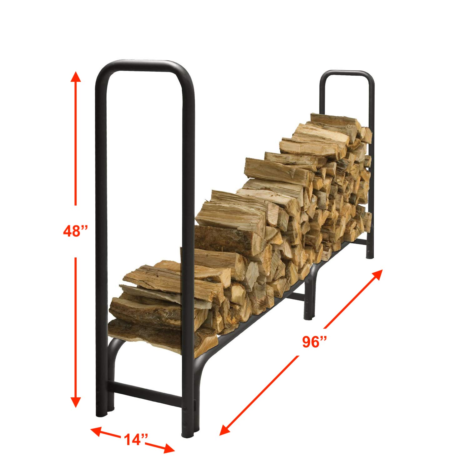 Fine Purrite Fire Wood Log Rack Heavy Duty Fireplace Firewood Holder With Free Water Resistant Cover For Outdoor Storage Gmtry Best Dining Table And Chair Ideas Images Gmtryco
