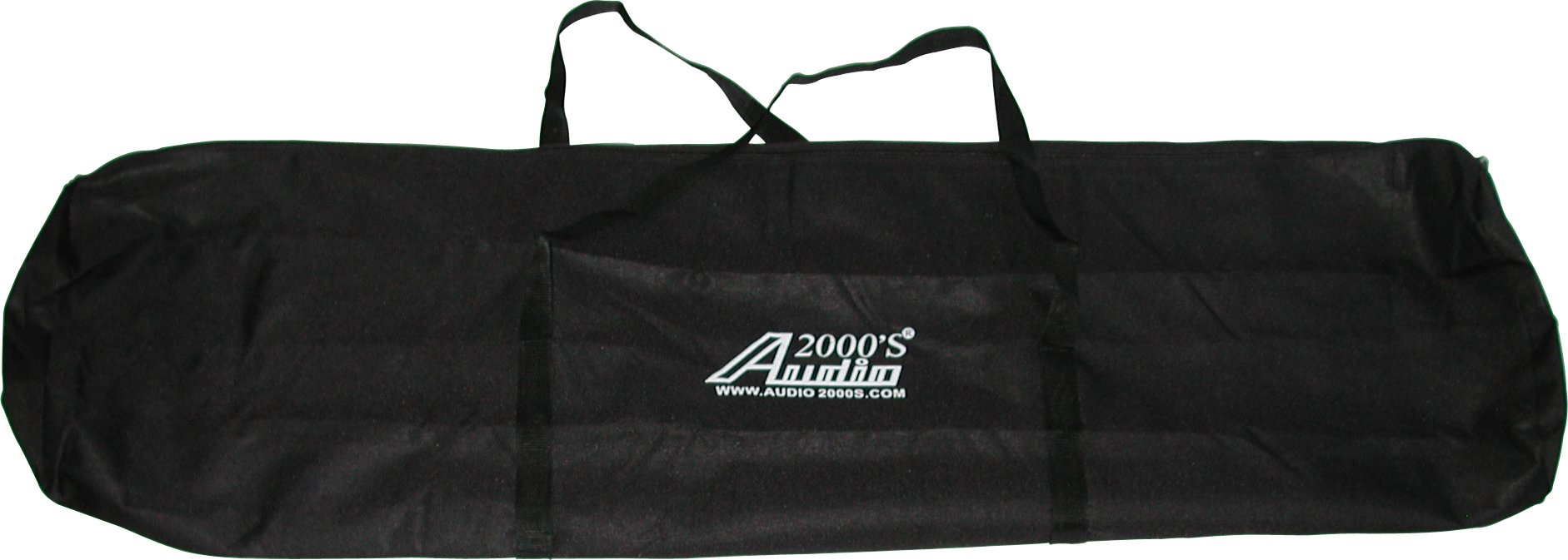 Audio2000'S ACC4395-99 Dual-Pack Speaker Stand Canvas Carrying Bag with a Divider Flap