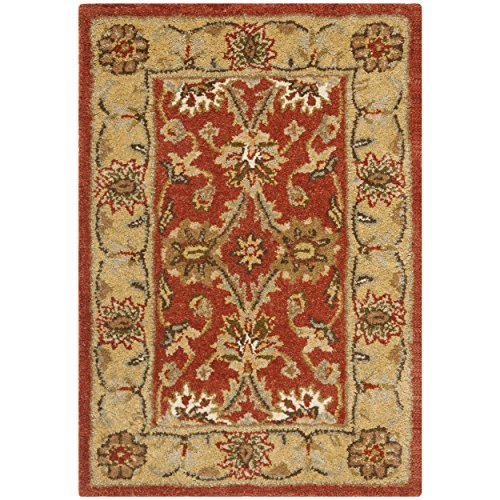 Safavieh Antiquities Collection AT249C Handmade Traditional Oriental Rust and Gold Wool Area Rug 2 x 3