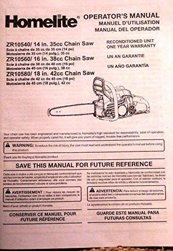Homelite Chainsaw Operator's Manual, 14