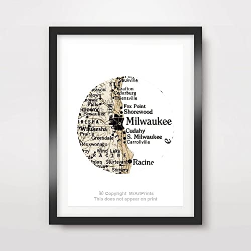 Amazon.com: Milwaukee Wisconsin US United States American Vintage ...