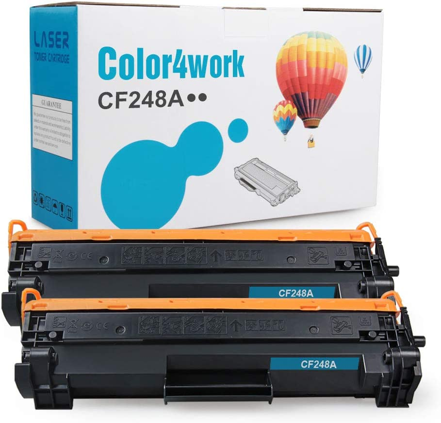 Color4work Compatible Toner Cartridge Replacement for HP 48A CF248A Black, 2-Pack, use for HP Laserjet Pro MFP M29 M29w M15 M15w MFP M28 M16