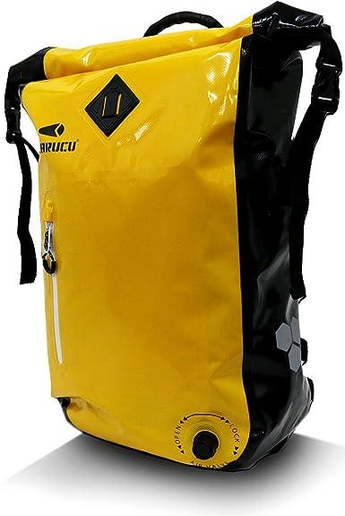 6687841a7b86 Amazon | [ピラルク] リュック 防水 インナー バッグ付き 25L イエロー ...