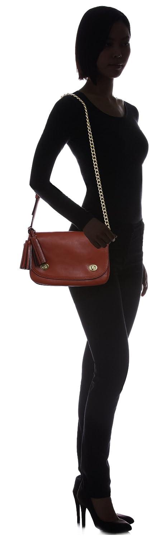COACH Legacy Double Gusset Flap Shoulder Bag Cognac 25361 B4/CG