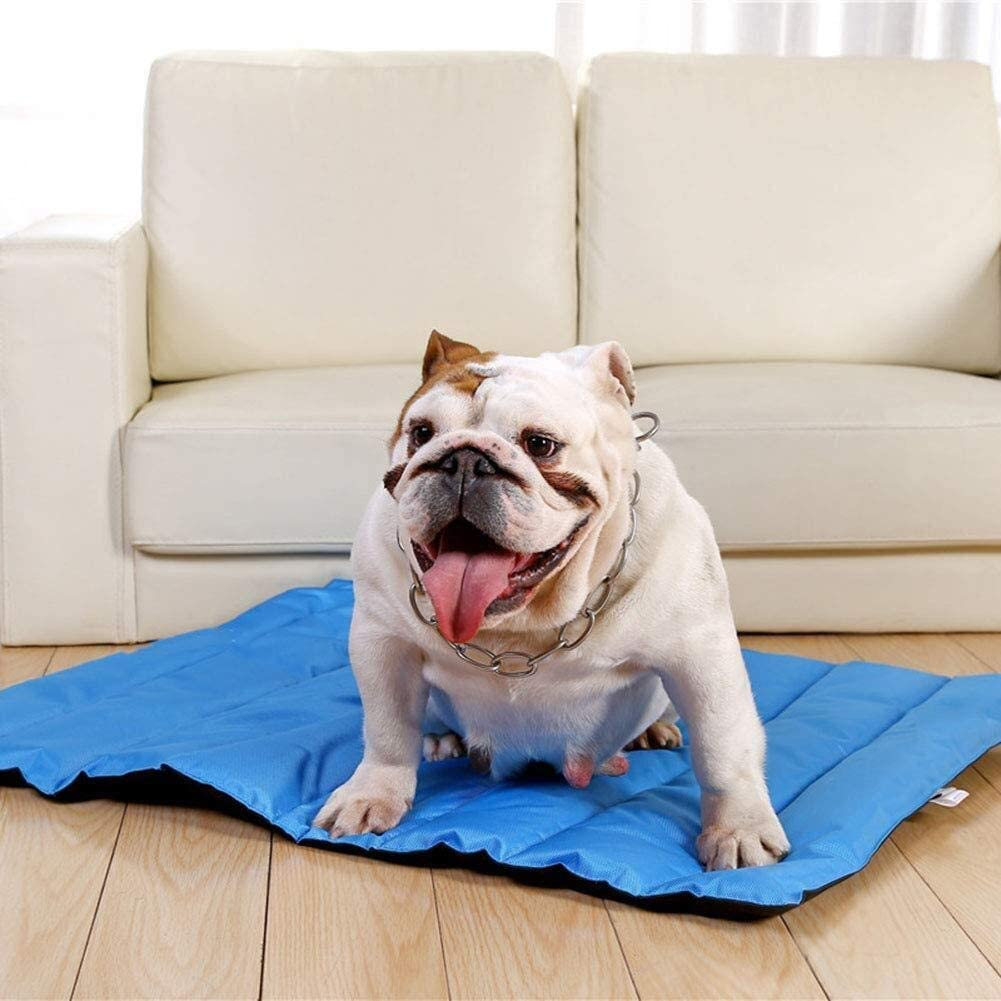 Zzyff Pet Cooling Pad Waterproof Oxford Collapsible Portable Travel Pet Mattress Indoor Outdoor Easy to Clean Durable