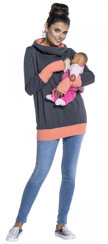 Zeta Ville 330c nursing panel Womens breastfeeding top sweatshirt hoodie