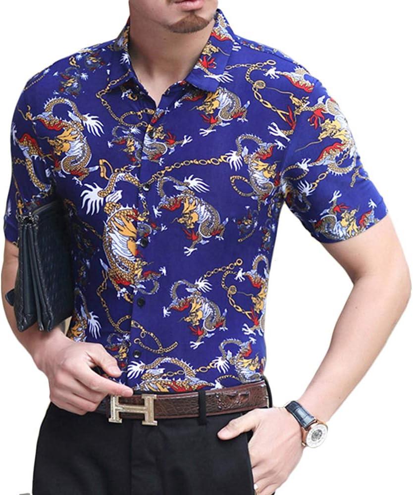NDHSH Camiseta Polo con Estampado de Hombre Camisa de Manga ...
