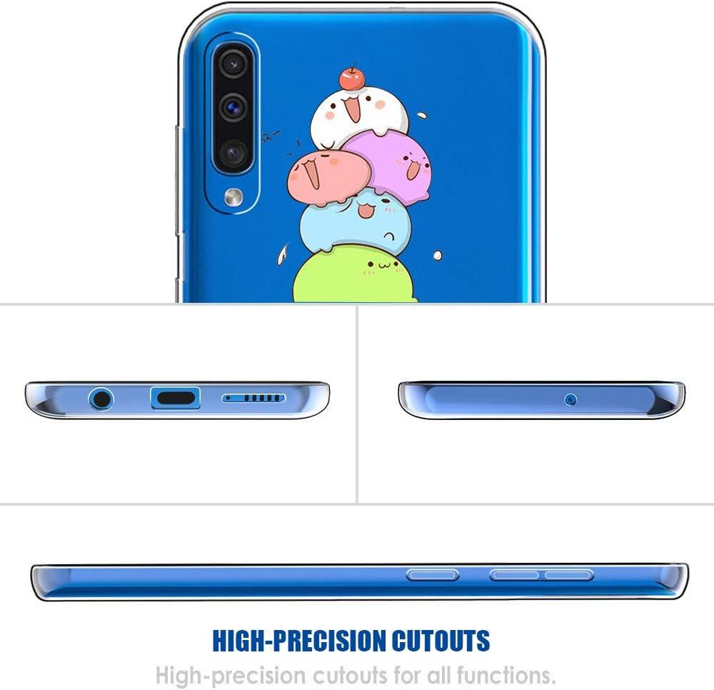 Layeri Kompatibel Mit Samsung Galaxy A50 H/ülle,Soft Silikon Handyh/ülle S/ü/ßes Tier Motiv Transparent Case Ultra D/ünn TPU Schutzh/ülle Bumper Sto/ßfest Cover f/ür Galaxy A50 Telefon