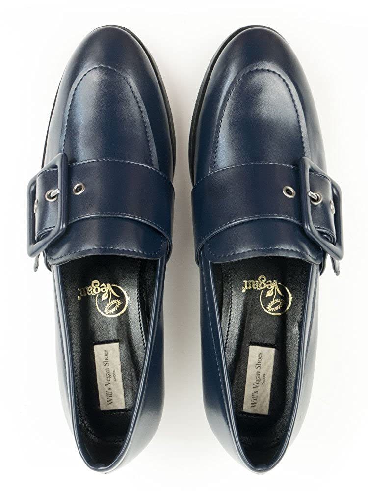 Wills Vegan Shoes Buckle Loafers