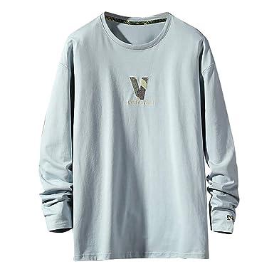 f133f6b5a3 Camicie Uomo Maniche Lunghe,Top A Maniche Lunghe Comode Larghe con ...