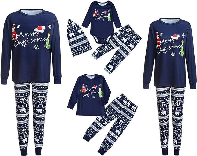 Landove Pijama Familiar de Navidad Invierno Conjunto 2 ...