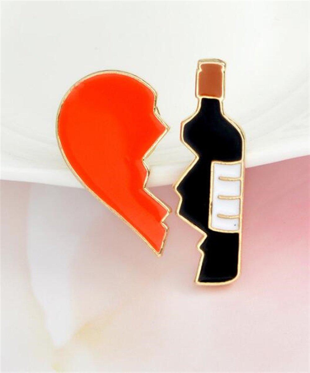 Enamel Pin Badge Souvenir Insigne vintage exquis de bouton de Broches de vin rouge d'amour créatif TOUYOUIOPNG