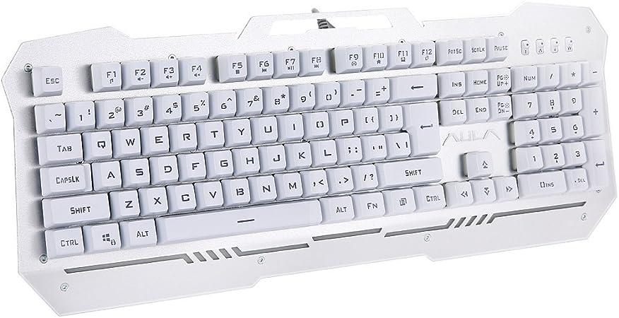 Óptico con cable teclado de juegos con retroiluminación LED ...