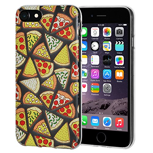 "Amzer ""Modern Pizza Print"" Soft Gel Klar TPU Skin Case für Apple iPhone 6/6S"