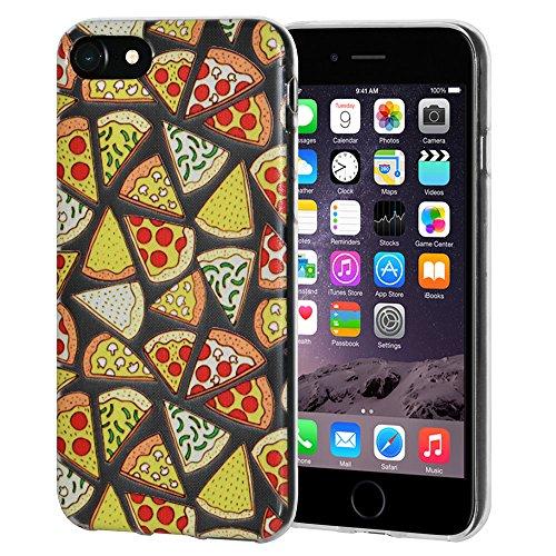 """Amzer Coque en gel souple transparent """"Imprimé Moderne à pizza en TPU pour Apple iPhone 6/6S"""