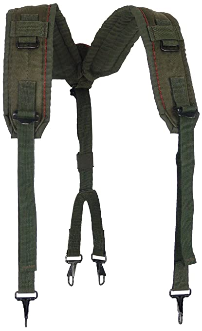 7ae953cac3b Image Unavailable. Image not available for. Color  Military Outdoor  Clothing Previously Issued US GI OD LC-2 Nylon Suspenders