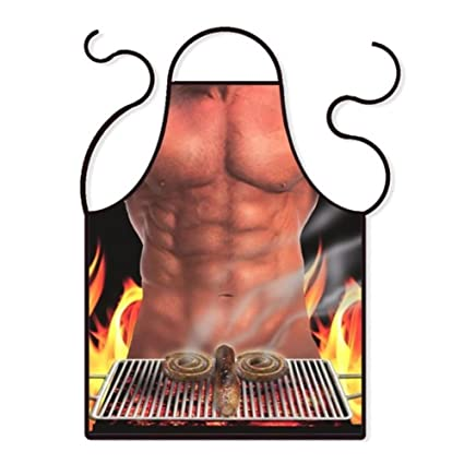 vectri Sexy cocina Delantal divertido originales cocina delantales de barbacoa salchichas para los hombres novio regalo