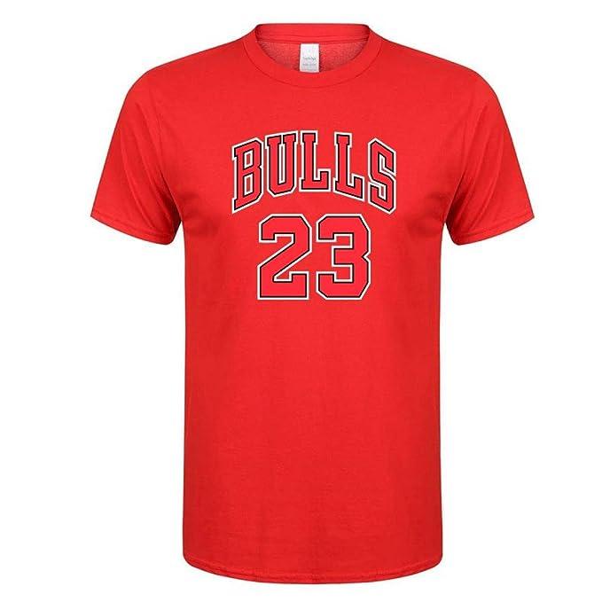ab7e5376a761c5 Bulls 23 Jersey t Shirt Men Women 2018 Summer New Print Tee Jordan 23 Red