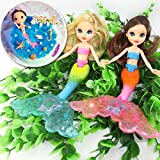 #3: 2-Piece Mermaid Doll Toy for Girls or Cake Decoration,Swim in the Water at Bath Time, the Pool, and Beach(Random Color)