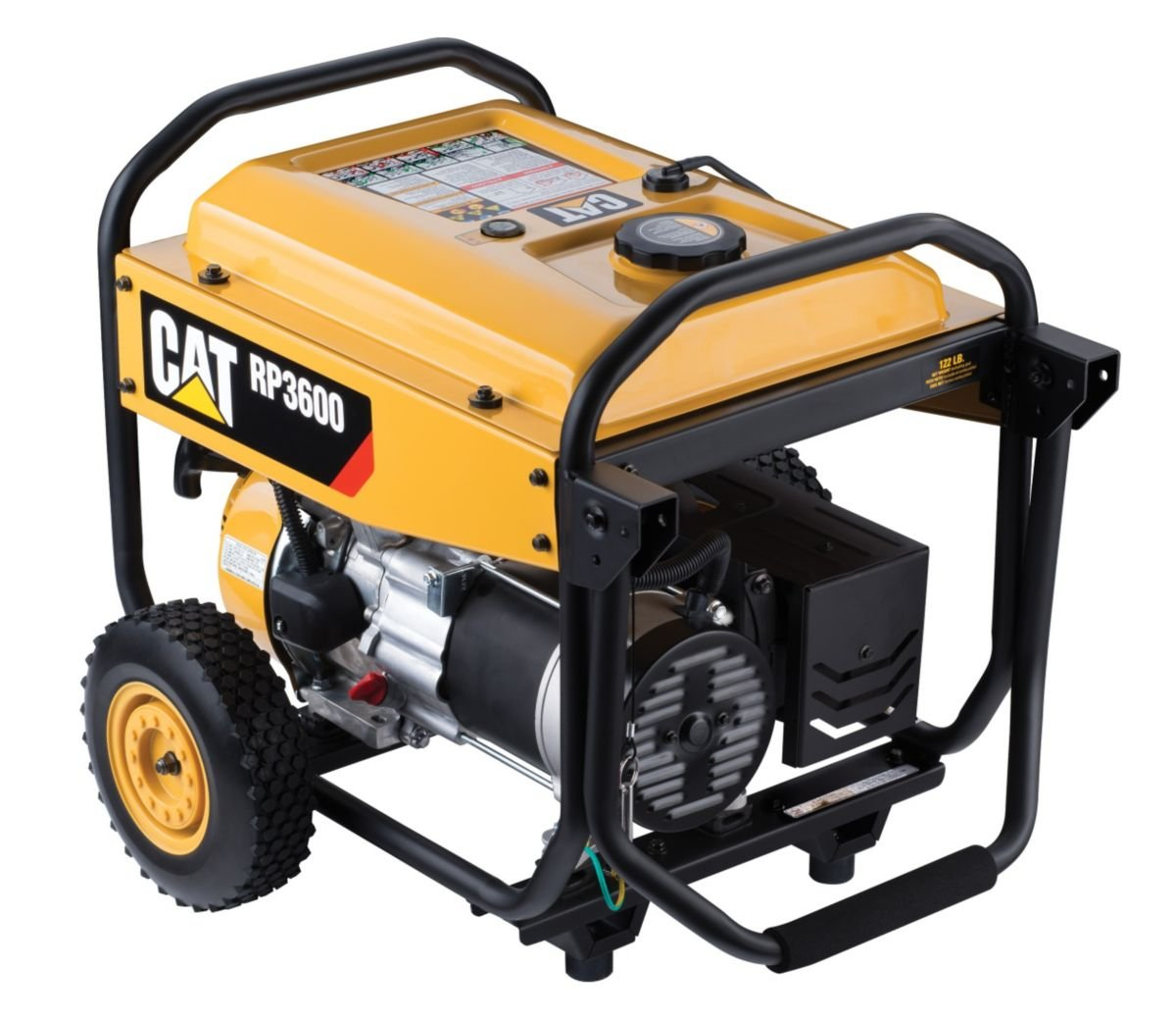 Cat Rp3600 3600 Running Watts 4500 Starting Gas Duramax Fuel Filter Powered Portable Generator 490 6488 Garden Outdoor