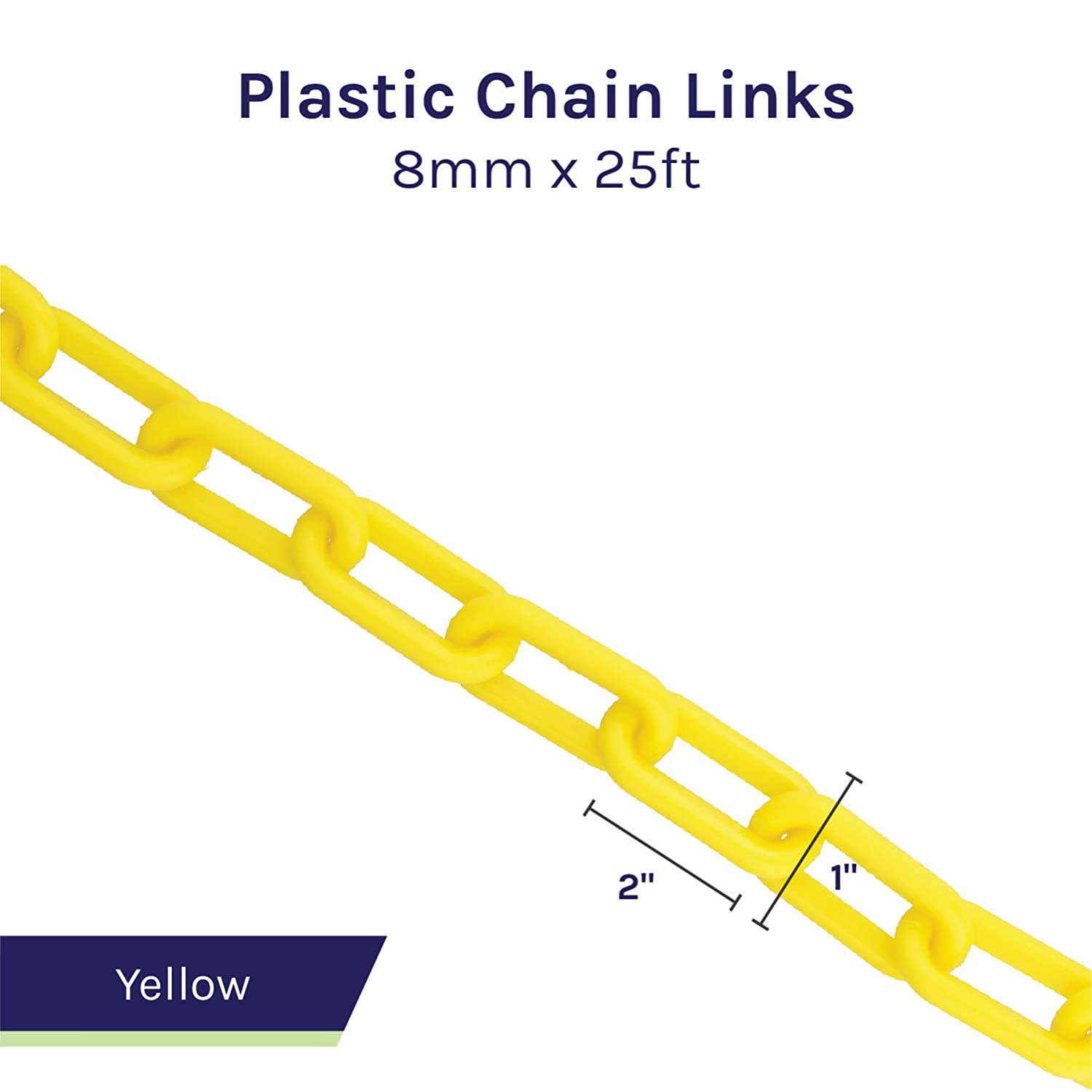 Halloween Chains BIS Plastic Chain Links in White White Chain for Crowd Control Prop Chains 2in x 125ft