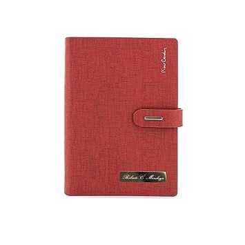 Agenda Pierre Cardin PERSONALIZADA con placa (rojo): Amazon ...