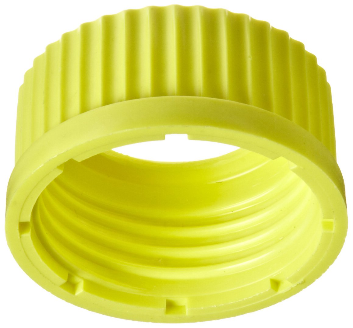 Chemglass CLS-1481-23 Polypropylene Solid Open Top Cap with GL-45 GPI Thread Yellow Chemglass Life Sciences Pack of 6