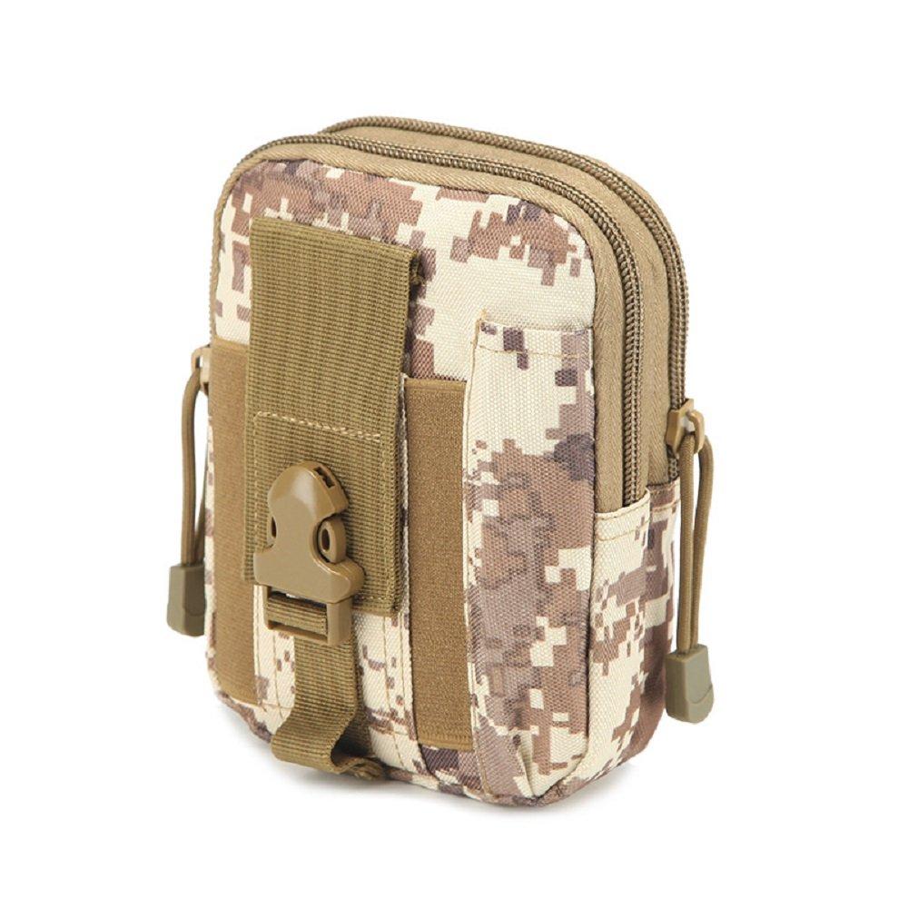 D30/tactique Molle Taille Sacs Ceinture de veste de sport Casual Sac /à main /Étui pour t/él/éphone portable ACU color