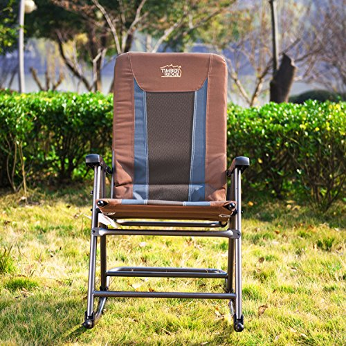 Timber Ridge Smooth Glide Lightweight Padded Folding Rocking Chair 300lbs