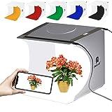 Mini Photo Studio Light Box,Photo Shooting Tent kit,Portable Folding Photography Light Tent kit with 20pcs LED Light + 6 Kinds Color Backgrounds for Small Size Products (Color: Black-studio)