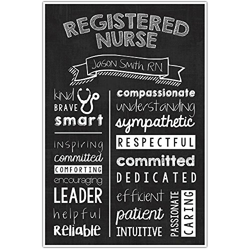 (Registered Nurse Chalkboard Wall Art – Registered Nurse Graduate Gift – Registered Nurse Appreciation Personalized Poster)