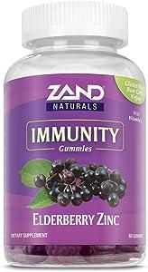 Zand Elderberry Zinc Immunity Gummies with Vitamin C | Year-Round Immune Support for Children & Adults | 60ct, 30 Serv.