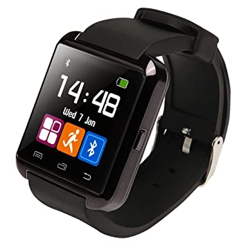 Ruichenxi ® U8 Bluetooth Smart Watch Inteligente Reloj Teléfono Compañero para Android IOS Iphone Samsung Galaxy HTC,Sony (Negro): Amazon.es: Electrónica