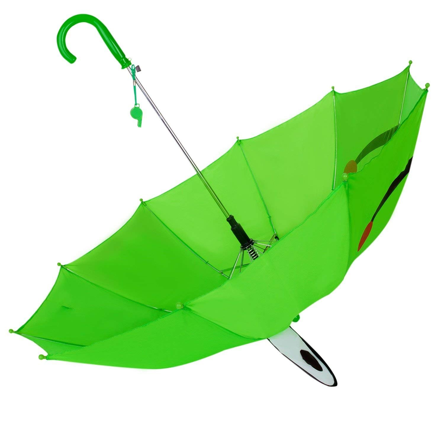 Maggie Cute Childish Funny Automatic animal Kids Umbrella/Rain gear/Rainproof/Rain Cover with UV Protection and Novelty Whistle Green Frog by Maggie (Image #2)