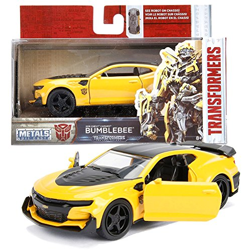 - Jada Year 2017 Transformer The Last Knight Series 1:32 Scale Die Cast Metal Cars - Bumblebee (2016 Chevy Camaro) with Opening Doors