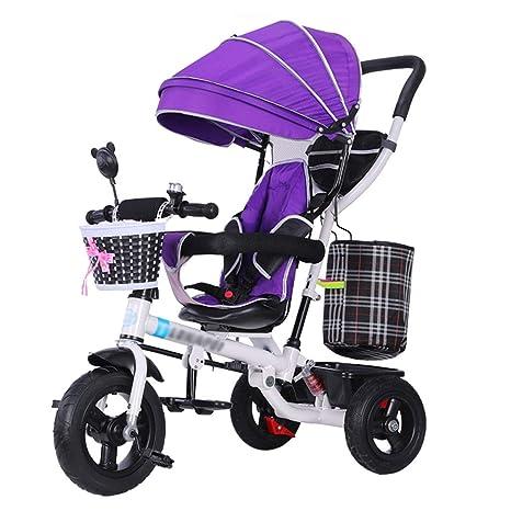 Cochecito Triciclo Infantil Multifuncional 4-en-1 para niños ...