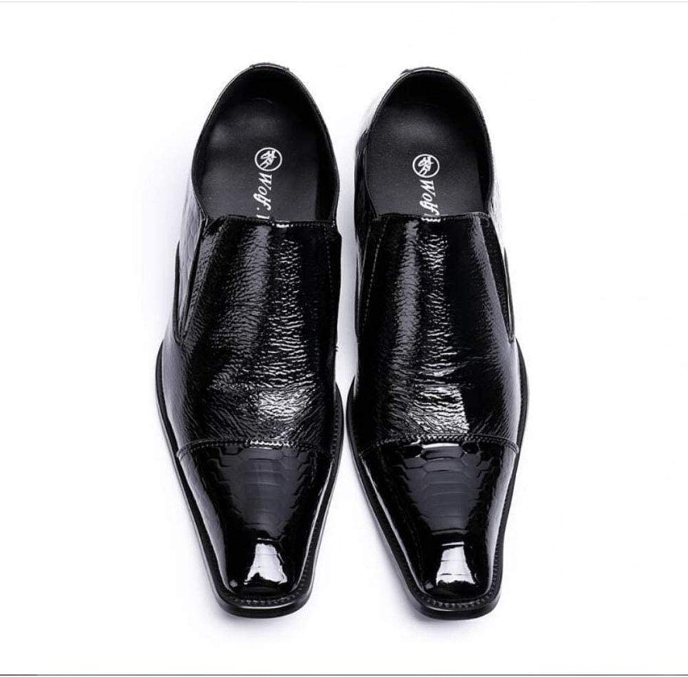 Color : Black, Size : 40 Hy Mens Formal Shoes Leather Spring//Fall Comfort//Formal Shoes//Party /& Evening//Personality Business Shoes//Hairstylist//Night Club//Party /& Evening Mens Shoes