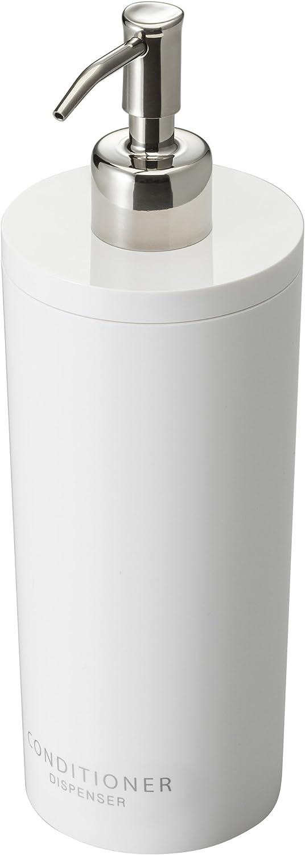 Yamazaki 2930 Tower Conditioner Dispenser Contemporary Bottle Pump for Shower, Round, White