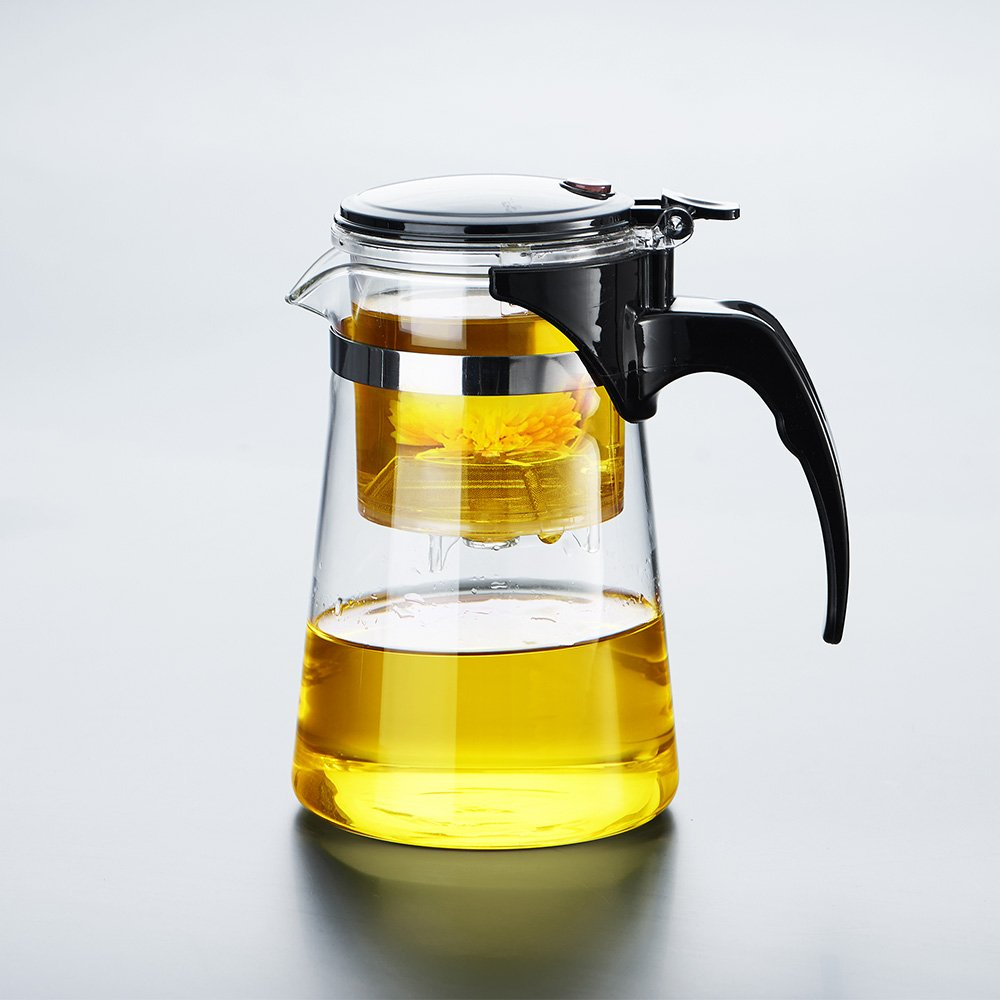 WarmCrystal, Glass Perfect Tea Maker Teapot, Teapots Strainer Included (19 oz) by WarmCrystal (Image #2)