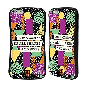 Head Case Designs Basic Abstract Typewritten Thoughts Hybrid Gel Back Case for Apple iPhone 6 Plus 5.5