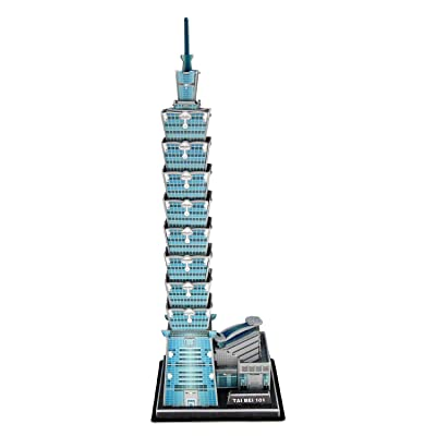 Runsong Creative 3D Puzzle Paper Model Taipei 101 DIY Fun & Educational Toys World Great Architecture Series, 49 Pcs: Toys & Games