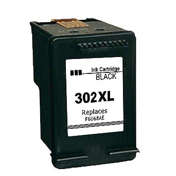 Ksera Remanufacturado HP 302 XL Cartucho de Tinta, HP 302 de Alto Rendimiento 1 -Negro (F6U68AE) Compatible con HP Envy 4520/4521 /4522/4523 ...
