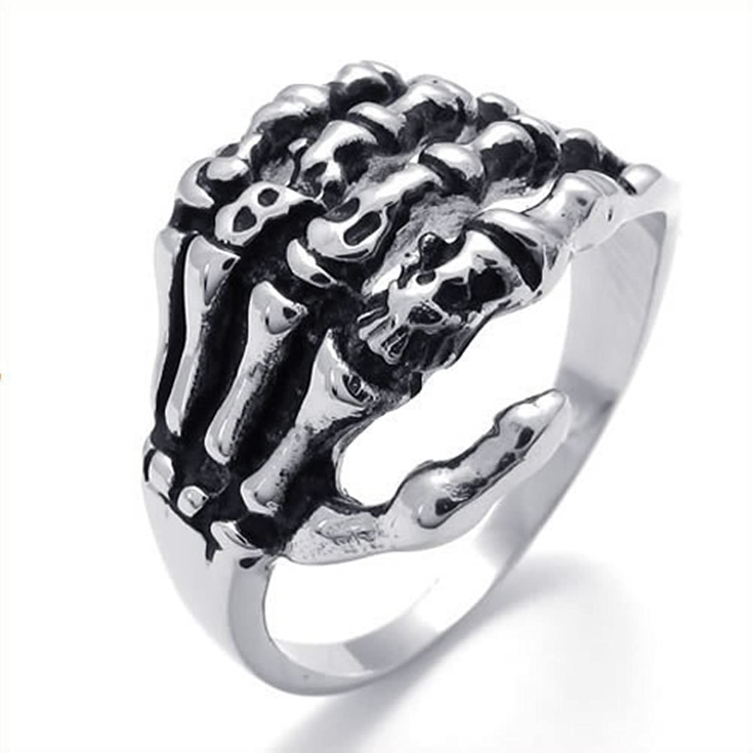 suegray wax skeleton rings jewelry products seal memento ring mori